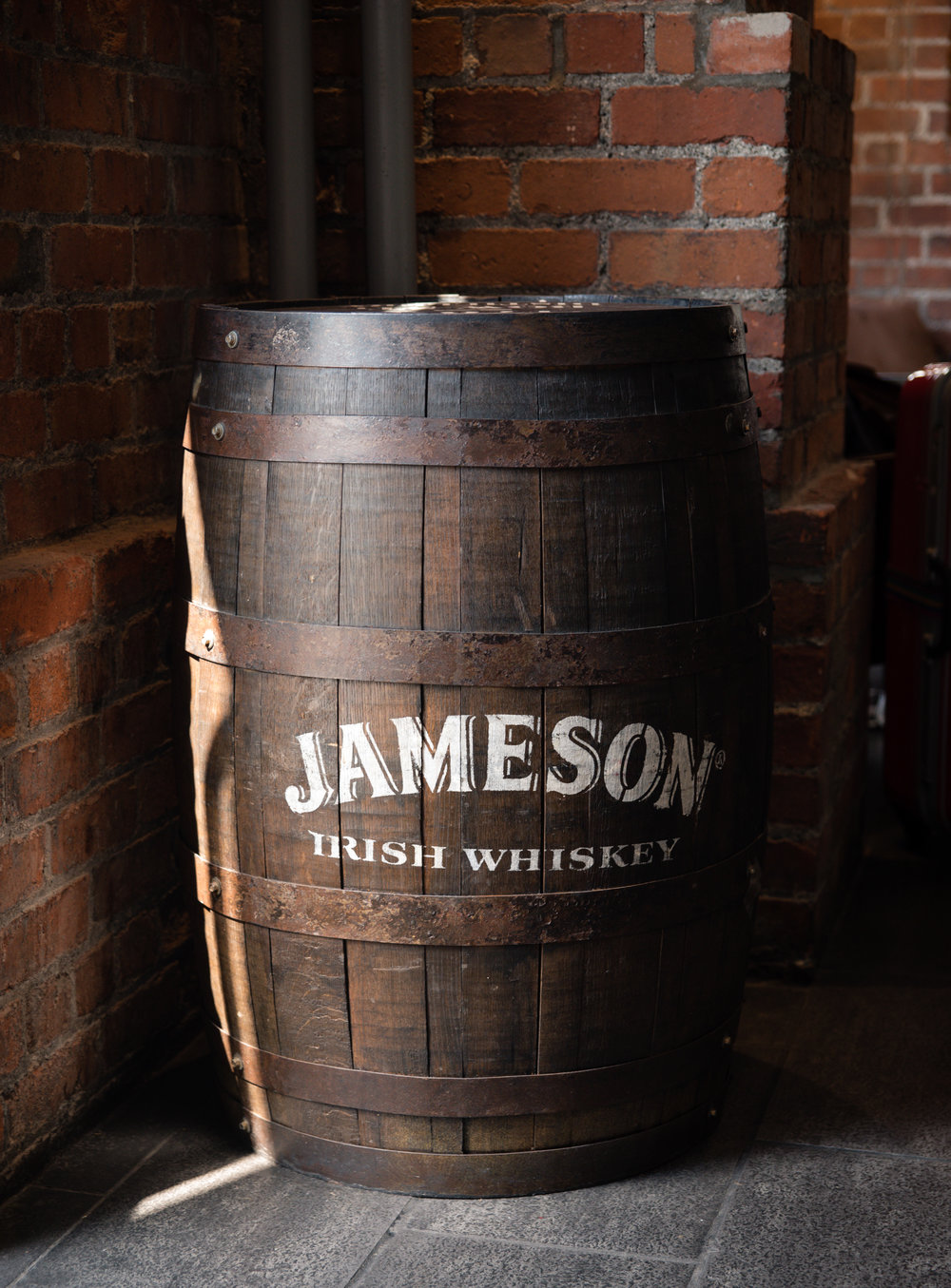 Jameson barrels also decorate the main gathering area. The Jameson Distillery is right next door to the hostel.