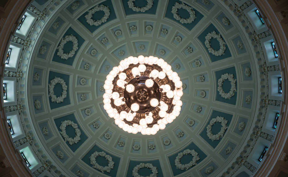The ceiling inside Belfast City Hall was gorgeous!