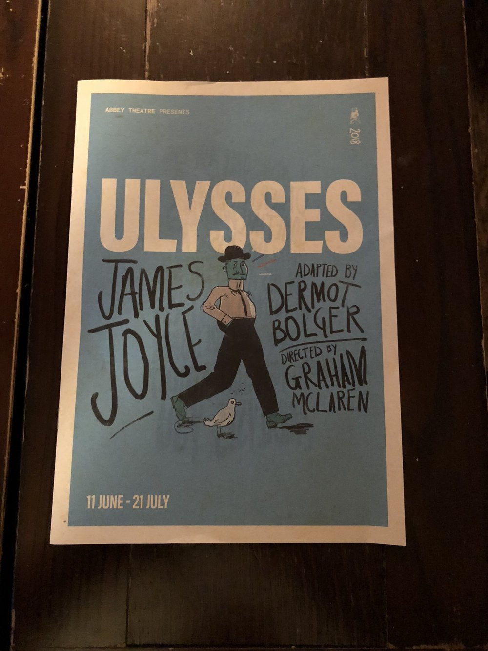 As part of our literature class, we went to the theatre! We read part of Ulysses in class. I loved being able to see it in person.