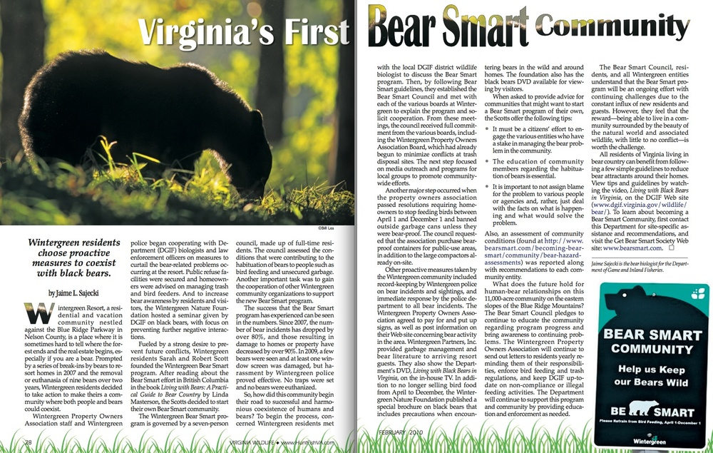 Read here    how Wintergreen property owners now successfully live with wildlife.