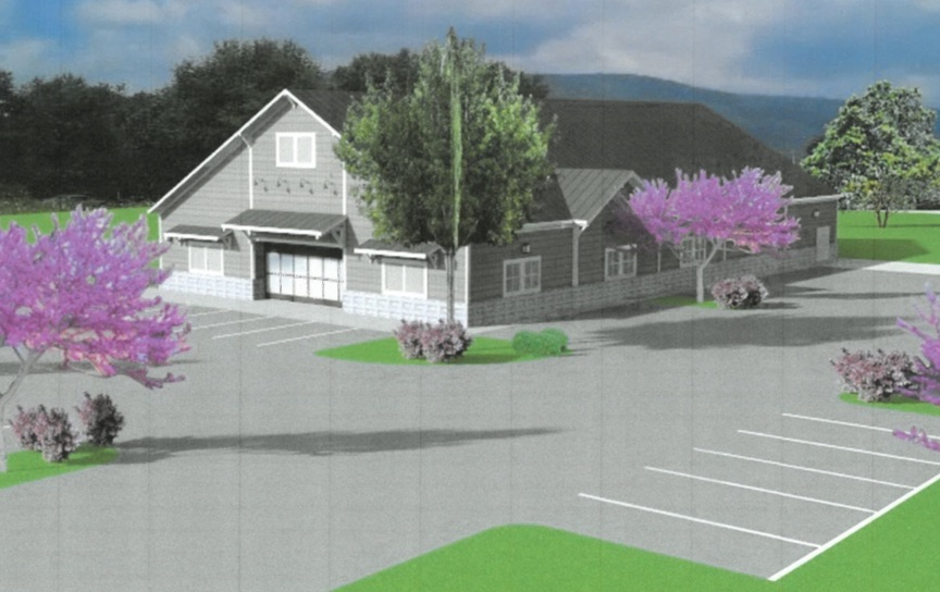 After several submittals and reviews, the ARB approved this final design of the building for the new Dollar General store in Nellysford. The ARB also required landscaping plans that would improve the exterior appeal of the project and provide some separation of the property from the golf course and other properties to the rear of the project. The signage on the front of the building will be restricted in size and color as will the pedestal sign in front of the building. Landscaping will also be required around the base of the pedestal sign in front of the store.