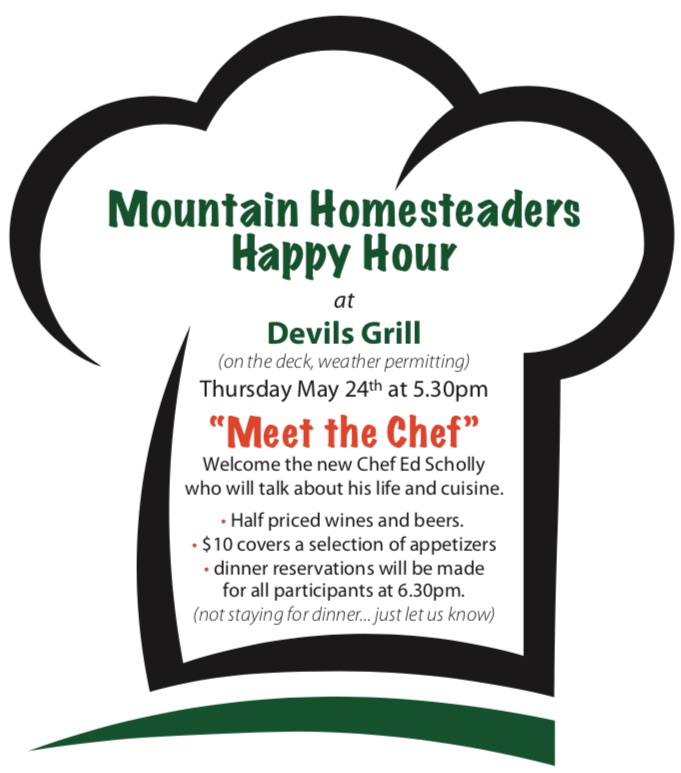 This event is open to all Wintergreen Mountain Homesteaders.