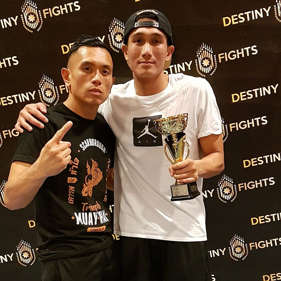 Congratulations to Jefferson for winning his fight this past weekend at Destiny 5!  Thank you to Milton Muay Thai for the opportunity, and Destiny Fights for putting on a great show!