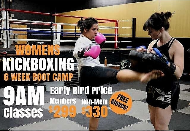 Take Your Fitness To A Whole New Level! Triumph Muay Thai will be running a Womens Kickboxing Boot Camp to KICK start your new year! Only 10 spots available, so register and take advantage of our EARLY BIRD pricing!  6 Week Boot Camp Class Start Time: 9AM Start Date: February 4th  End Date: March 15th  Early Bird Price:  Members $299 Non Members $330 (FREE Gloves)