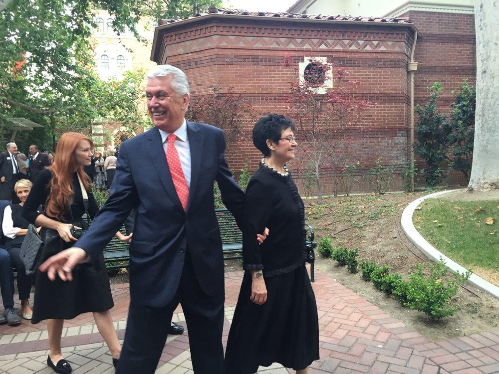 President Dieter F. Uchtdorf and his wife Harriet at the inaugural dinner and Symposium of the John A. Widtsoe Foundation on the USC campus.