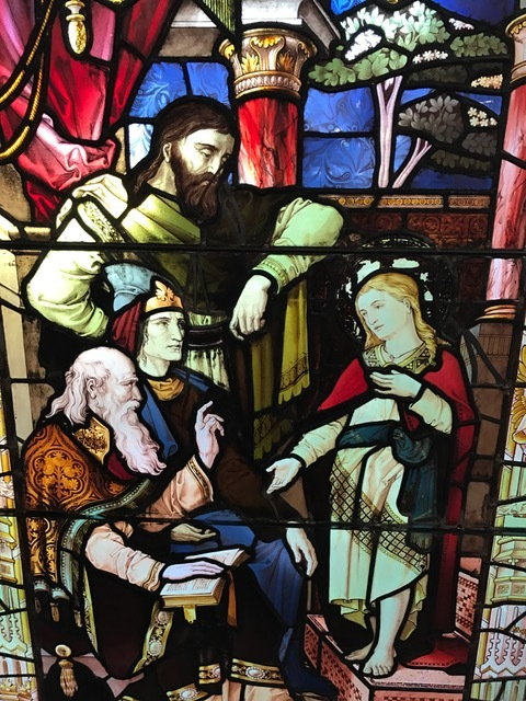 Christ Teaching in the Temple original stained glass artwork