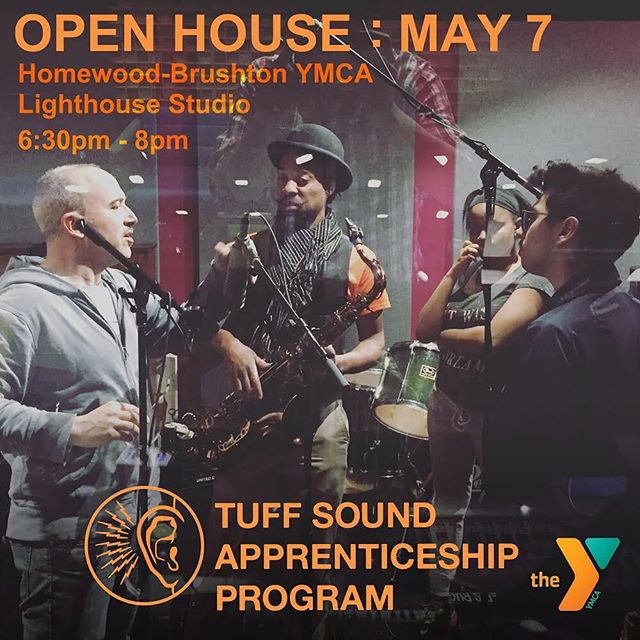 Join us to learn more about the Tuff Sound Apprenticeship Program and the Lighthouse Studio at the Homewood-Brushton YMCA. Hear music projects recorded and mixed by our graduating cohort of Tuff Sound Apprentices. Eat some snax, and get a tour of the studio. Free. #recordingstudio #musictechnology #education #apprenticeship #internship @ymca_lighthouse @remakelearning