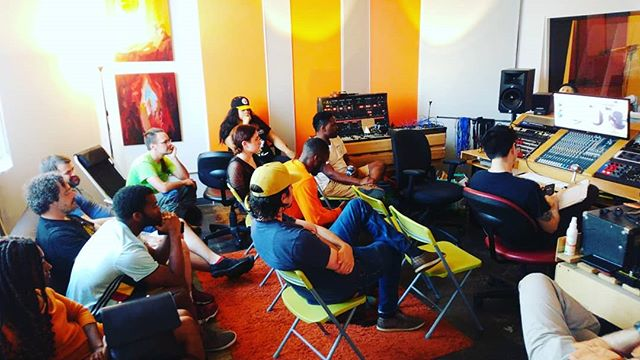 This is what intent listening looks like. #Pittsburgh #Producers #Meetup #studio 8 min to play your track and discuss.