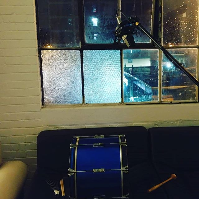 Recorded some #dope #drums last night during the #rain storm with the window open. I'm going to push myself to continue to #create #newsounds and #textures. Don't be satisfied with sound libraries and presets, make your own tones! #diy #sounddesign #thinkoutsidethebox