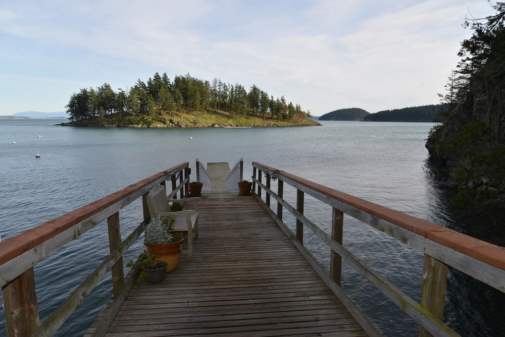Dock, looking out towards Armitage Island..JPG