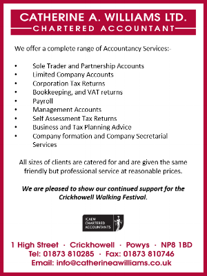 Catherine A Williams. Accountancy Services, Crickhowell