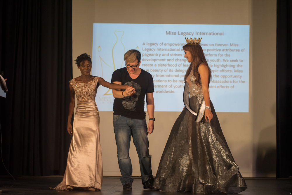 Chief of Party Roushelle Reign, Director of Miss Legacy Puerto Rico- Juanel Pacheo & Queen Kiara Zayas