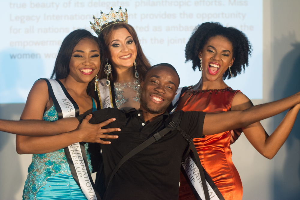 Resident Photographer Davion Forbes with the 2016 Royal Court