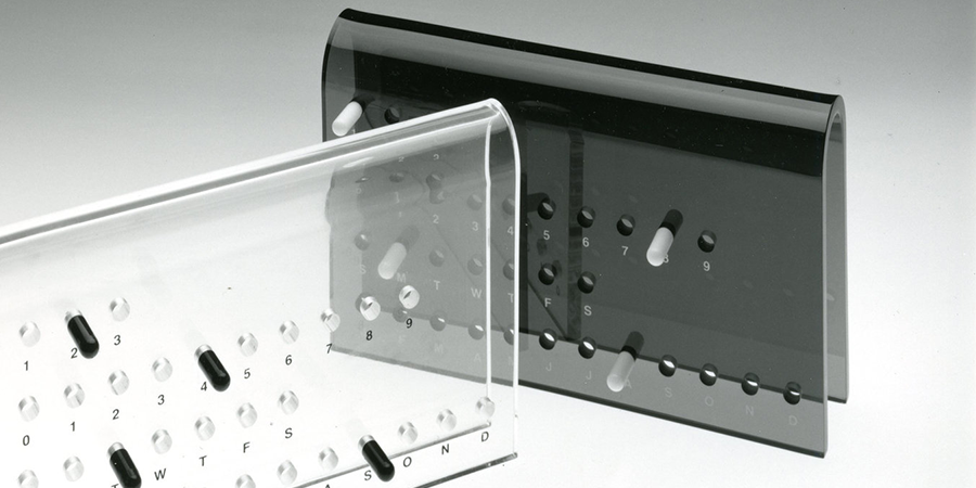 Plexiglass Perpetual Calendar  | Usque Designs Ltd. | MOMA