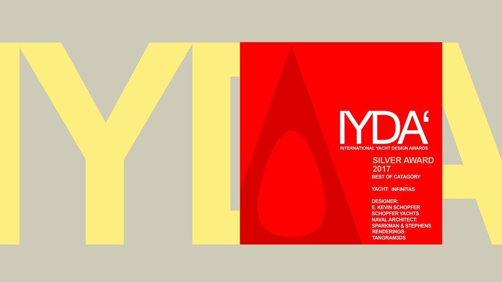 Silver Award 2017Best in Class - International Yacht Design Awards