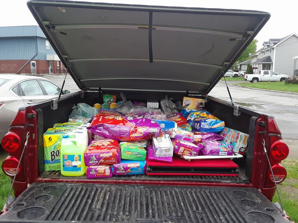UPDATE: Christopher did a great job filling the truck again! Thank you to Christopher and his mom for doing a great job and to everyone who donated.