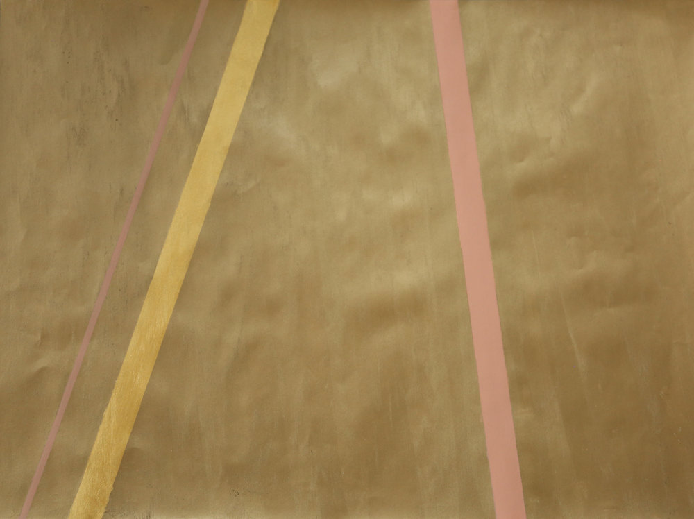 Newman's Bronze Gold & Pink Stripes I -