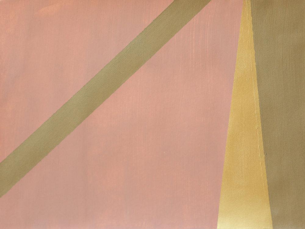 Newman's Pink Bronze Stripe I -