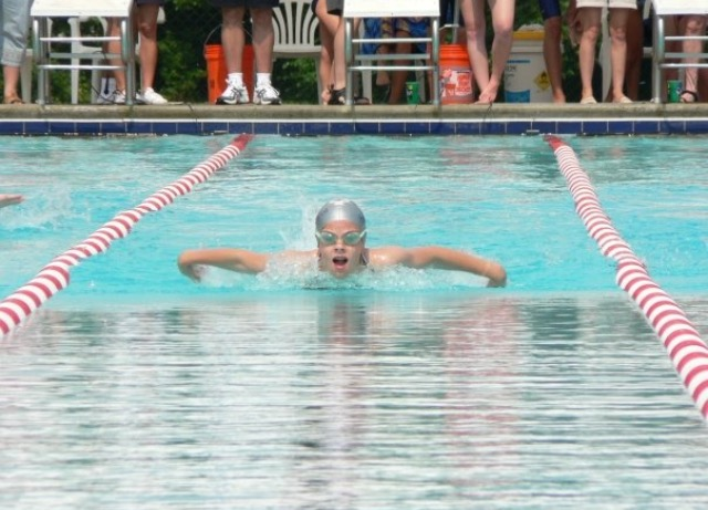 Swimming in Championship meet, age 15