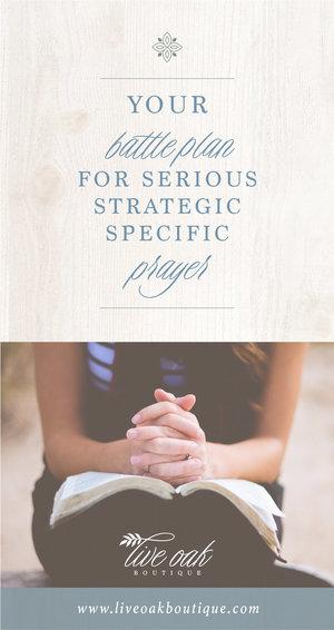 Fervent Prayer Strategy — Blog Live Oak Boutique