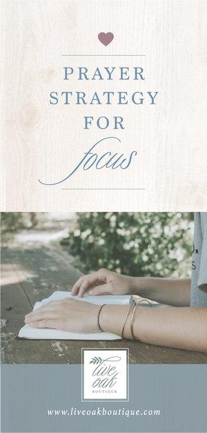 Fervent: Prayer Strategy for Focus — Live Oak Boutique