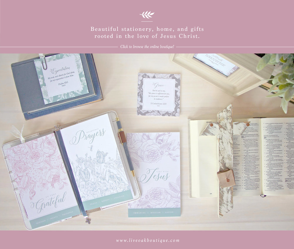 Create a prayer strategy for your pressures with Live Oak Boutique. www.liveoakboutique.com