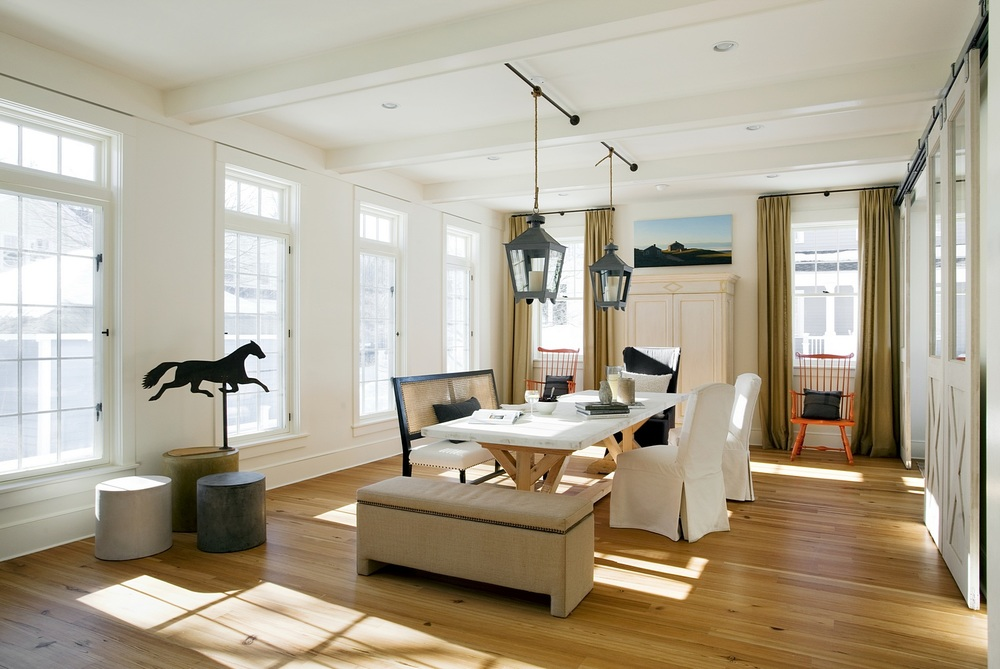 Dining room with optimal daylight