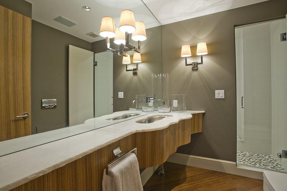 Bathroom with Custom Counter