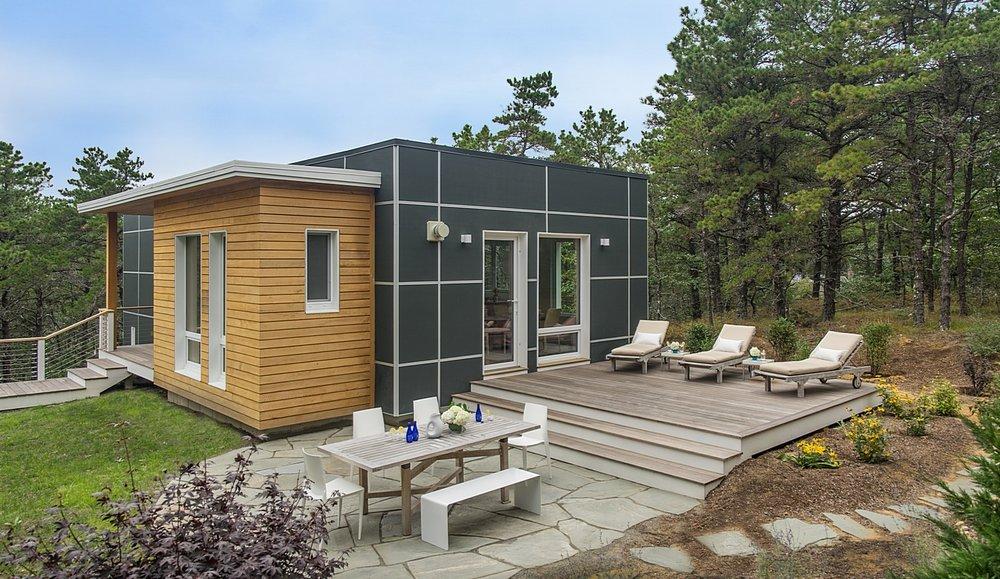 Modern house deck