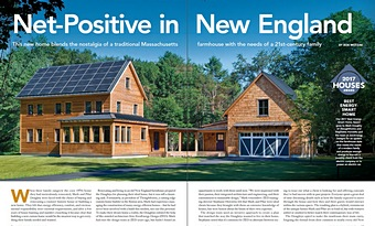Fine Homebuilding HOUSES Net-Positive in New England