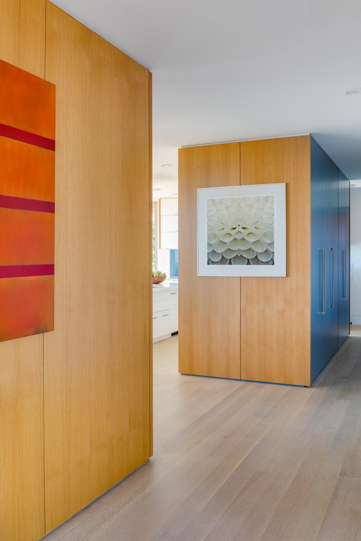 Modern oak clad walls