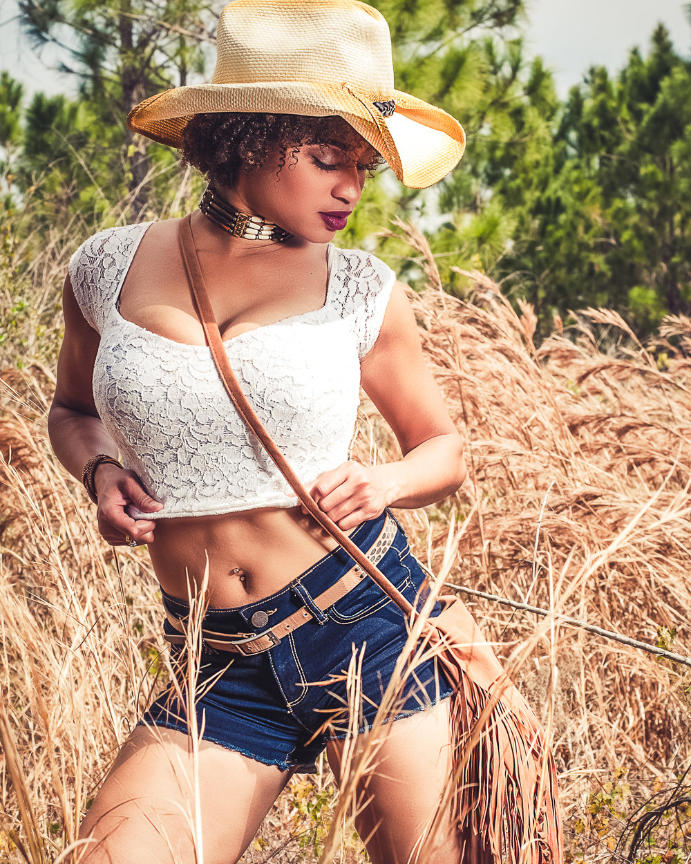 Mora Model Magazine - Wild West edition featuring model Francine Sylvia Baptista