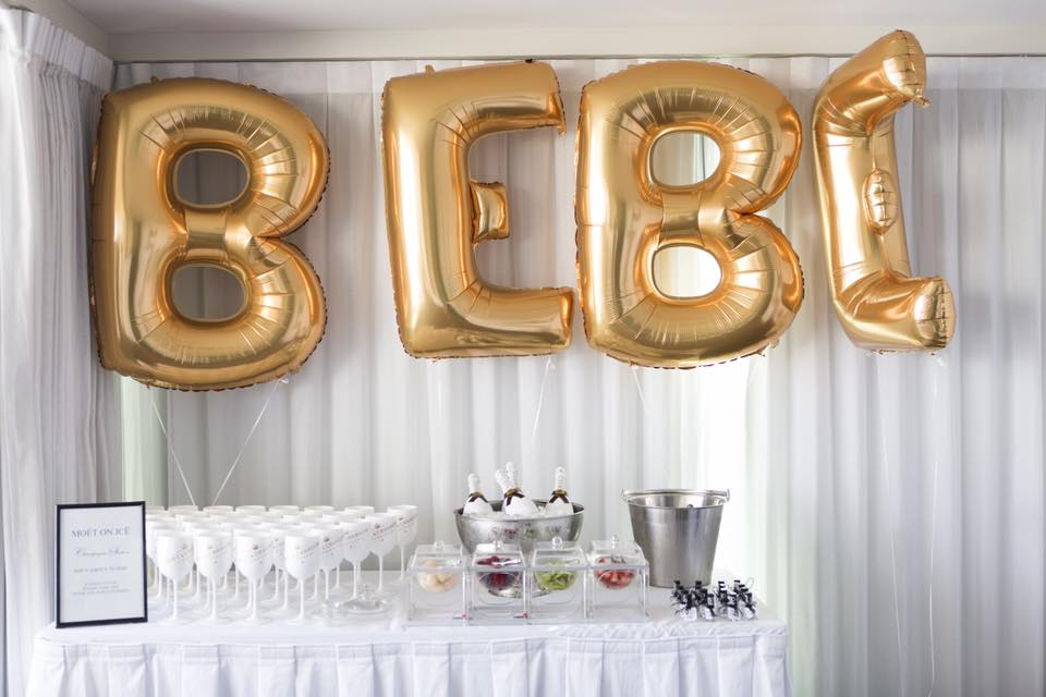 Moet on Ice Champagne Station, BEBE Giant Balloons from Baby and Birthday Balloons