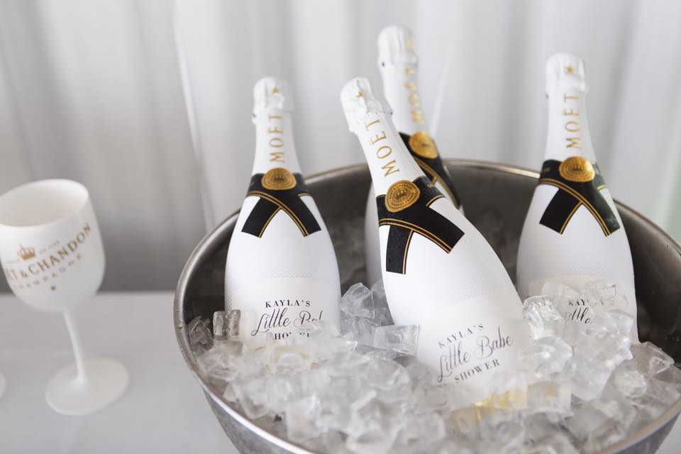 Personalised Champagne labels by Bombardier Designs