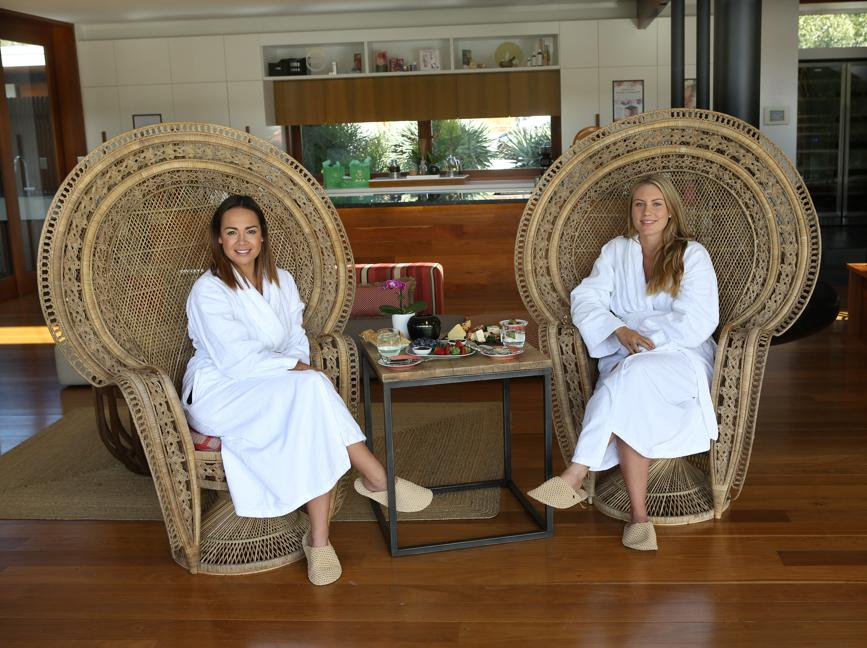 Skye and I catching up at   One Wybelenna   Brisbane's best holistic day spa.
