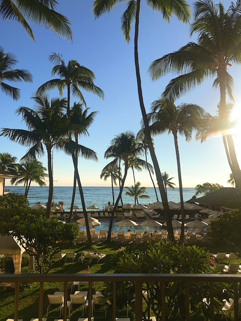 Halekulani Hotel - VIEW FROM OUR OCEAN FRONT ROOM