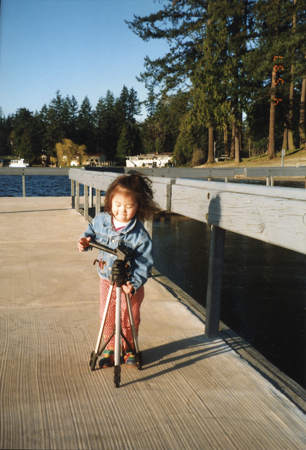 Here's Little Shirley setting up the tripod for Dad circa 1997. I'm a little taller now, but still willing to take on big tasks. Let's collaborate!