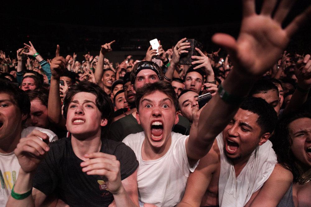 Travis Scott fans in Portland.