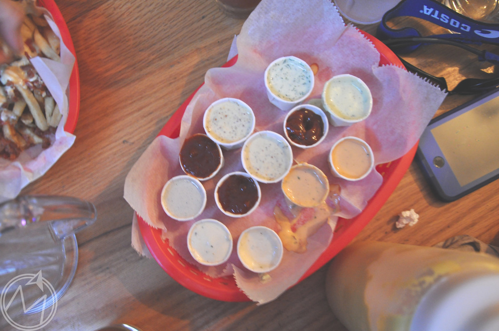 SEE? all. the. sauces.