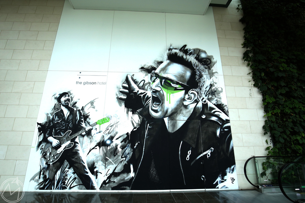 who doesn't love a good bono mural? we must be in ireland!