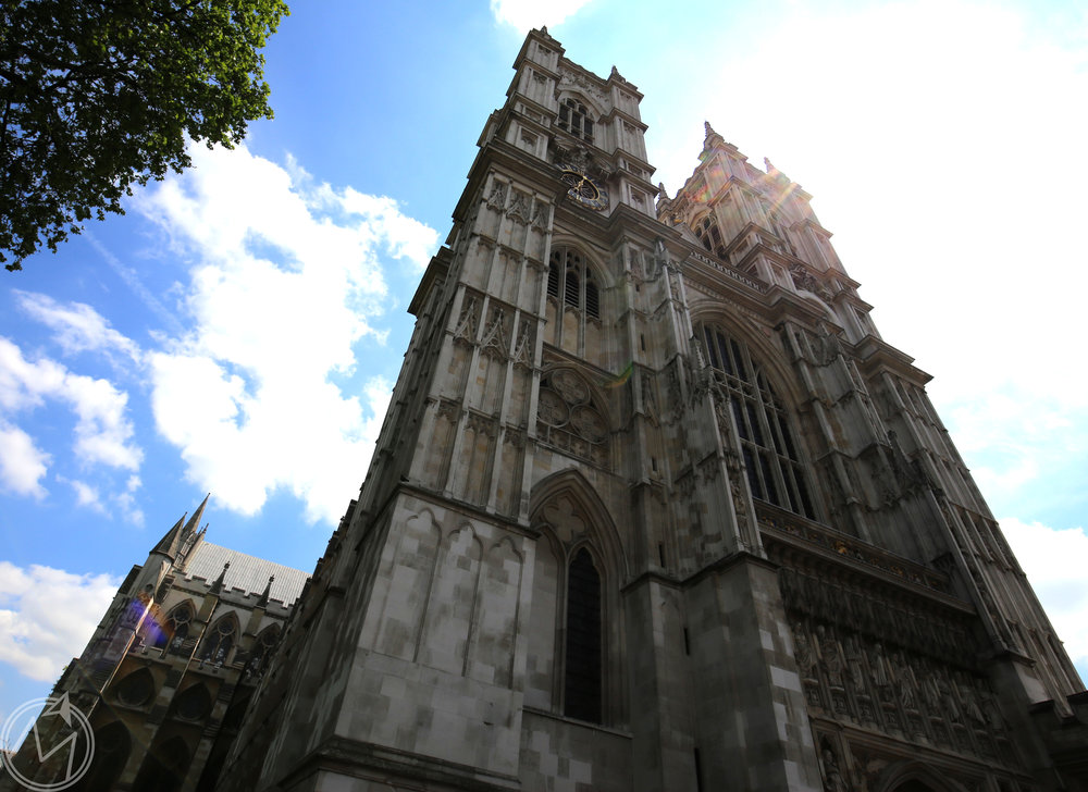 front of the westminster abbey building. gorgeous!