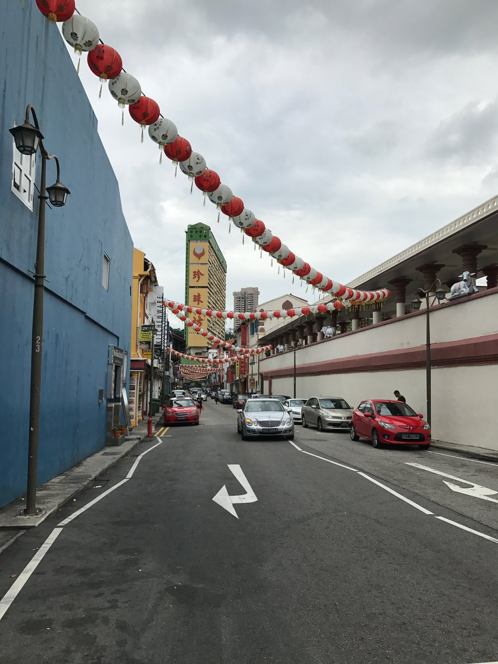 one of the quieter streets near the chinatown area.