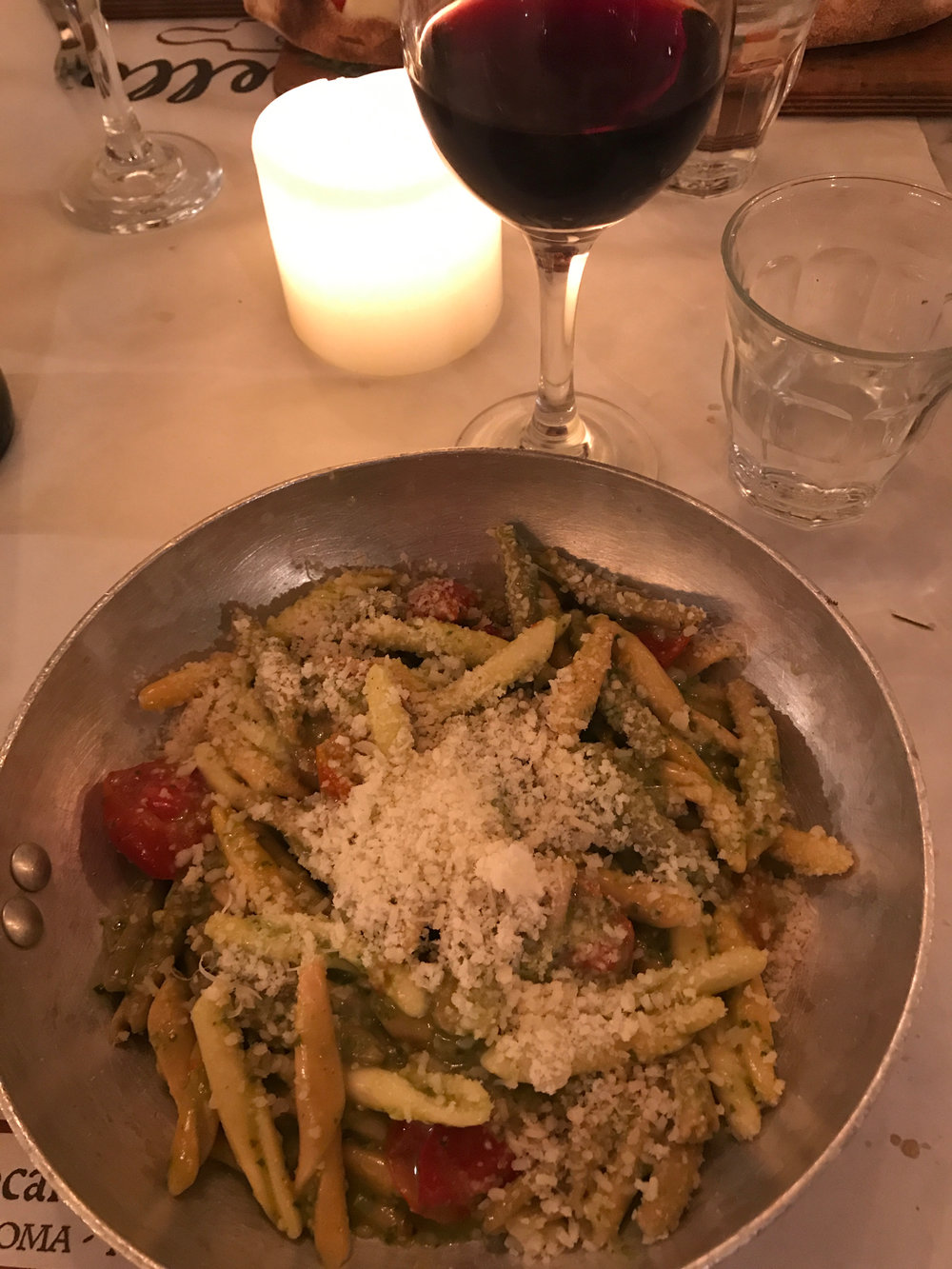 this was one of MANY plates of pesto I had during our trip. couldn't get enough!