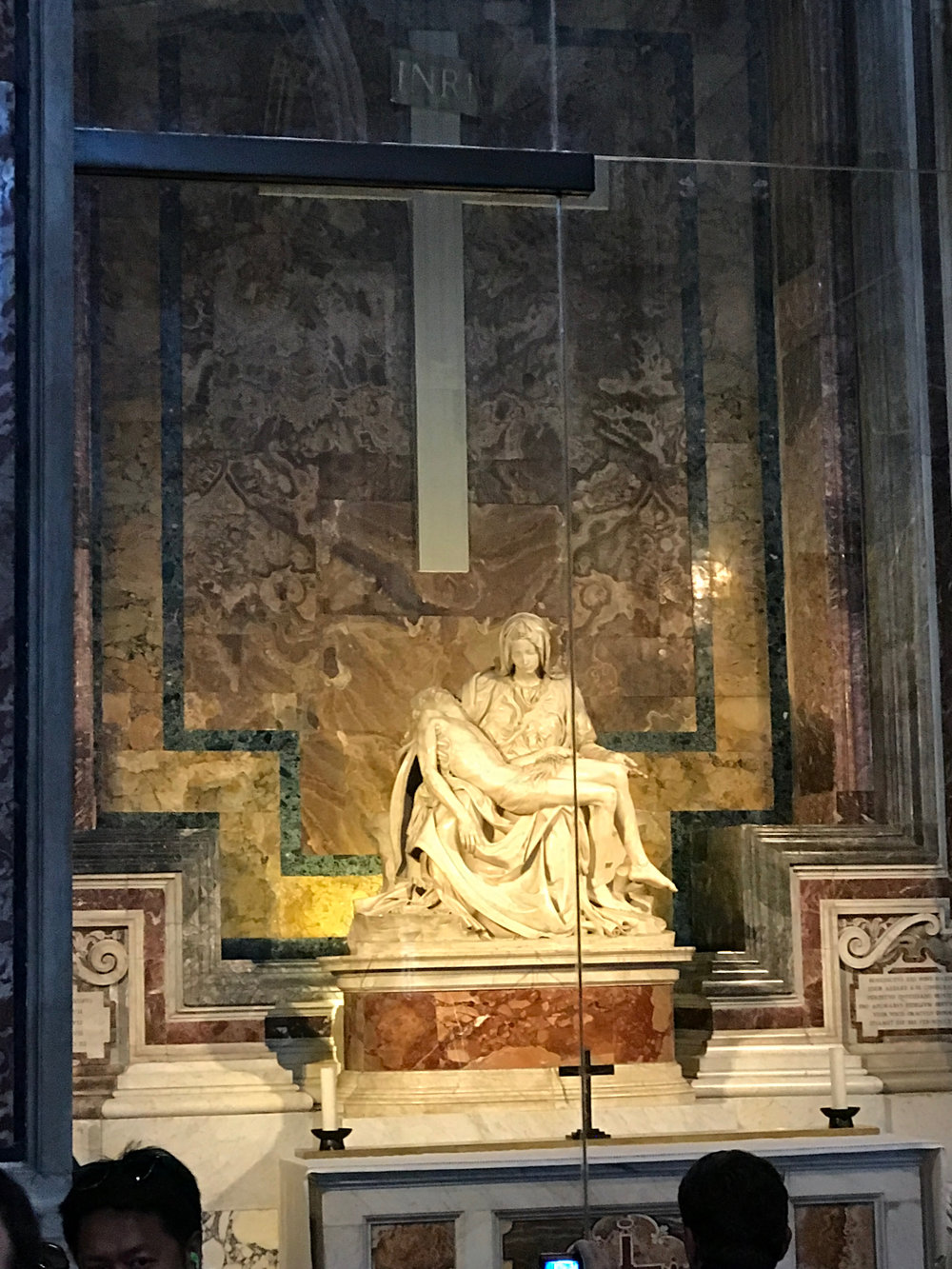 i think i audibly squealed when I saw that the original pieta was in the entryway. i studied it in art history years ago and couldn't believe such a famous sculpture was just right here!