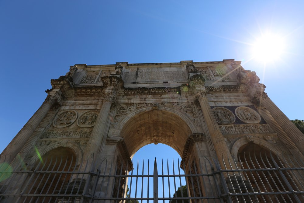 this is the arch of constantine, which essentially stands in the shadow of the colosseum. while not as expansive, it's still pretty cool.