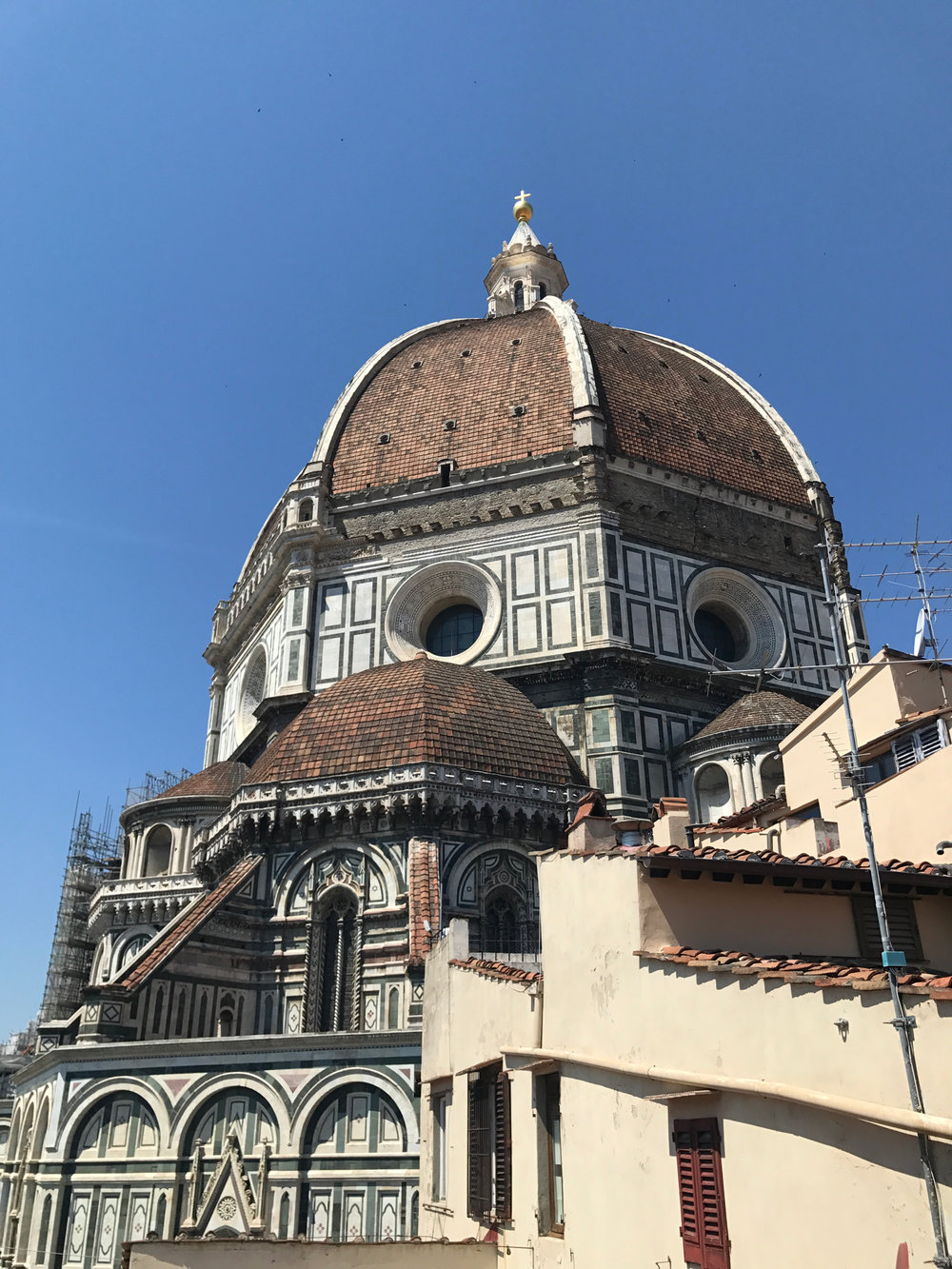 the duomo from the outside. everything the about the architecture and style of buildings and cathedrals in florence is so much different than anywhere we've been!