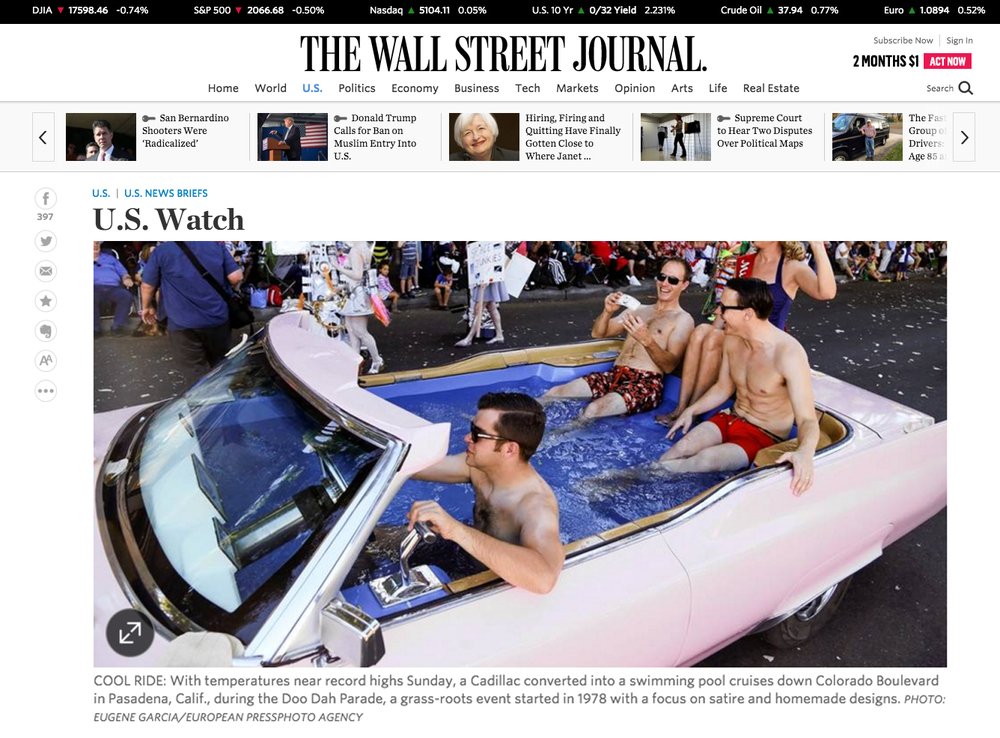 Doo Dah Featured in The Wall Street Journal: