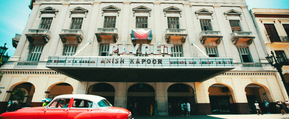 Even Sir Anish Kapoor produced a new video specifically for Payret, Havana's oldest surviving cinema.