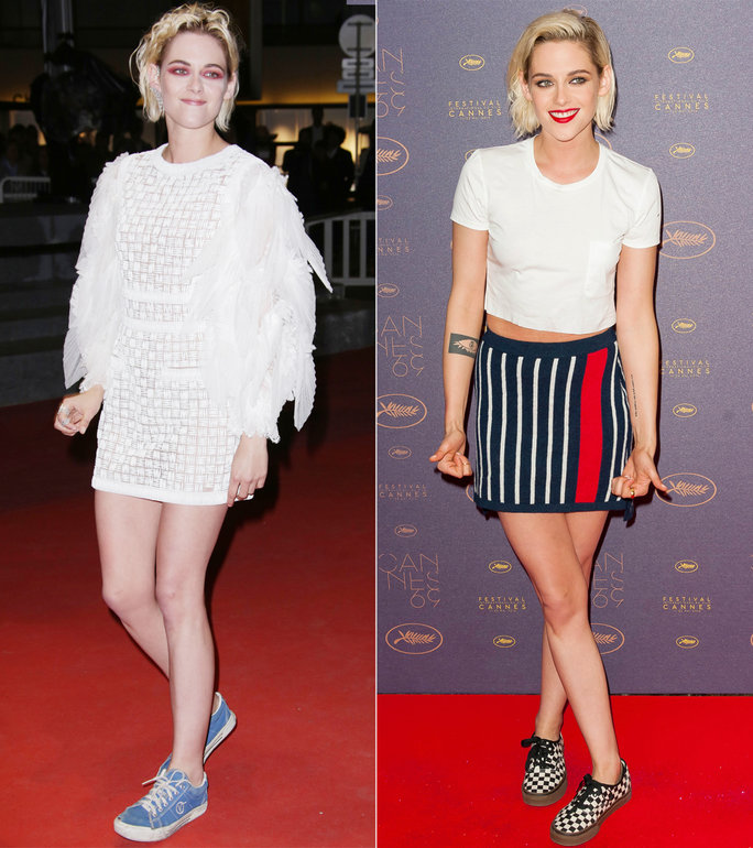 You've got to give kiddos to the girl who pairs Chanel couture with old Vans. Kristen shows a cool edge to modern grunge, comfort and being bold on the red carpet.