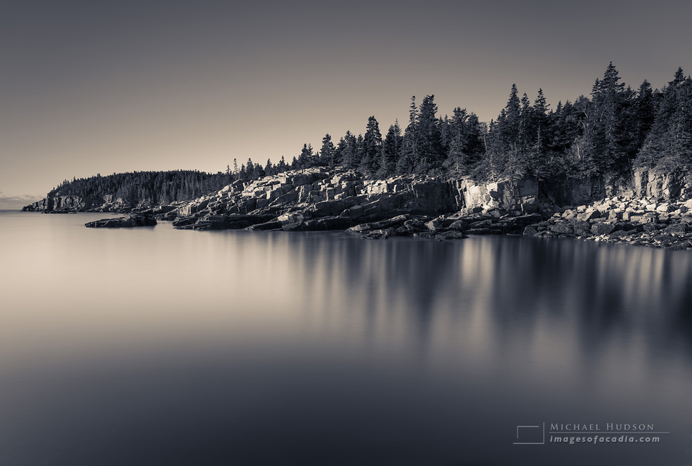 Early morning along the east coast of Acadia, 2015